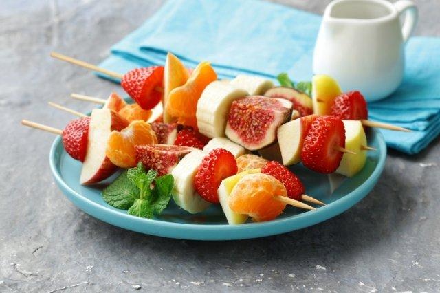 Snack de Brochetitas de Frutas